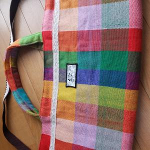 さをり織の作品 その1 bag類