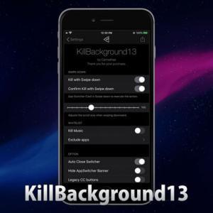 KillBackground13 - iOS 13対応バックグラウンドのアプリを一括終了する脱獄Tweak