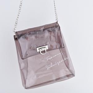 ダイソーの透明バッグで作るトレンドバッグ