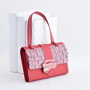 真っ赤なバッグと単語カード風ミニブック