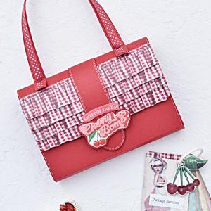 夏休みの工作、真っ赤なバッグの作り方