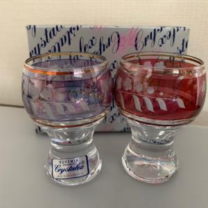 ボヘミアンガラスの可愛いグラス