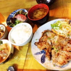 中国★無錫|今日のランチ☆豚の生姜焼き定食【明日葉】(2020.07.07)