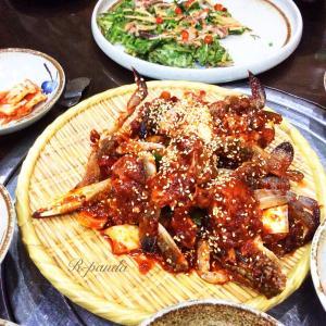 中国★無錫|韓国料理【大福家】ケジャン(蟹醤)+牛肉タコ鍋(2020.09.01)