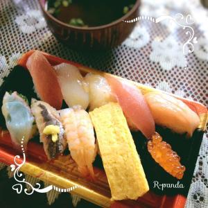 日本★大阪 今日のランチ☆はま寿司人気にぎり10貫(2021.07.15)