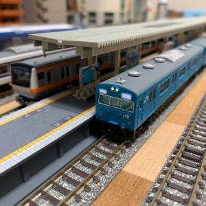 マイクロエース103系阪和色クモハ編成入線