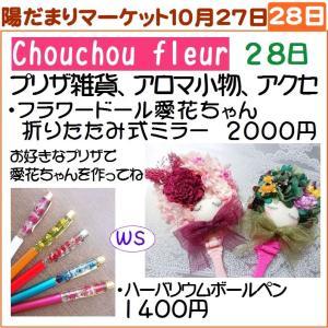 陽だまりマーケット「秋の日の陽だまりと青空と」28日Chouchou fleur<シュシュフルール>さん