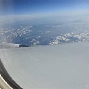 ソウルからの帰国便機内食と韓国映画