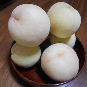 桃のコンポートとブルーベリージャム