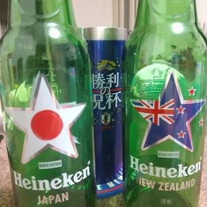 ハイネケン(日本&ニュージーランド瓶)で祝杯