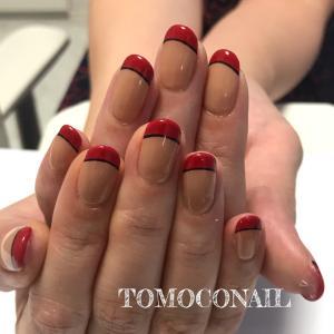 赤フレンチ★ネイル