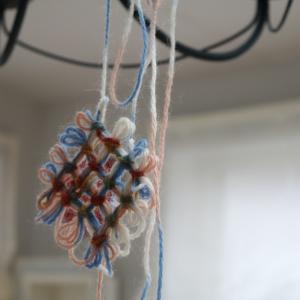 毛糸のワッフル