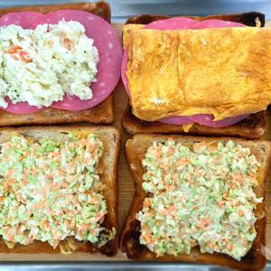 週末に作る「卵焼きとハムとコールスローのトーストサンド」