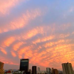 高槻の空に広がる芸術的雲模様
