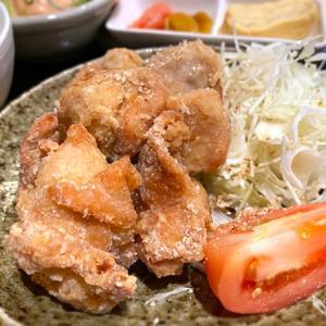 博多かわ屋さんの酢ダレでいただく「鶏の唐揚げ定食」