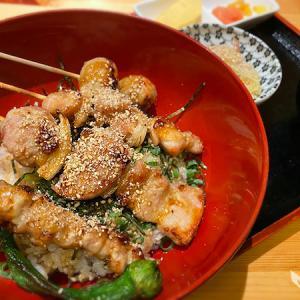 博多かわ屋さんのお値打ちな5種の串が乗った「焼き鳥丼」
