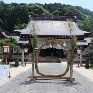 橘神社(雲仙市)と茅の輪くぐり