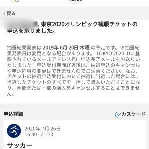 東京五輪チケット抽選受付