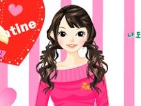 ピンク色ファッション着せ替えゲーム【ドレスアップ3】