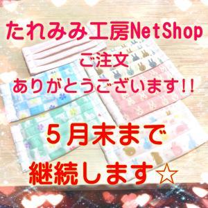 たれみみ工房NetShop、5月末まで再OPENしました☆