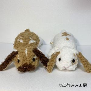 オーダー作品のご紹介♪ゴロン寝リラックスポーズの、ぬいぐるみ(小夏ちゃん&小梅ちゃん)