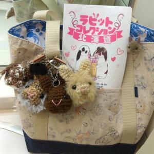 ラビコレ北海道へ、あみぐるみバッグチャームをお供にしてくださったお客様から、お写真が届きました☆