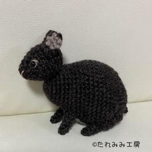 オーダー作品のご紹介☆アマミノクロウサギのあみぐるみ!!