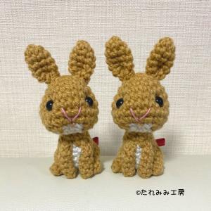オーダー作品紹介☆あみぐるみ(リアルお座りポーズ/プーちゃん)