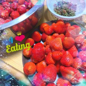 あまおうイチゴで、苺ジャム作り♪ヾ(≧▽≦)/