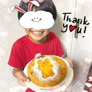 母の日に、うさぎ柄チーズケーキのプレゼント☆&エコバッグとか、リコーダーホルダーとか♪