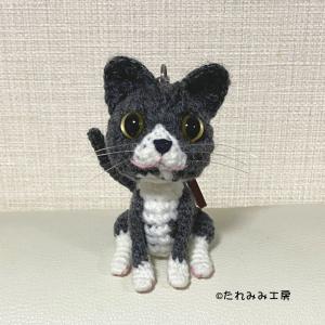 オーダー作品☆猫ちゃんのあみぐるみバッグチャーム(ここちゃん)