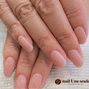 ベージュの美爪ワンカラー