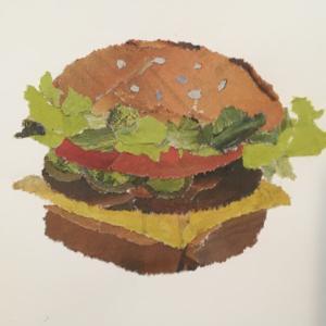 昨日のお昼はハンバーガーを……