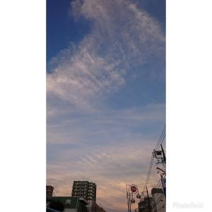 今日の空とあのウィルスのこと