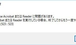 インターネットでPDFが開かない(523:523)エラー