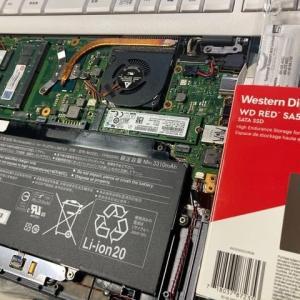 モバイルノートPCのSSD、256GB→500GBへ換装