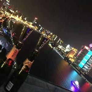 上海の息子から届いた誕生日のライン