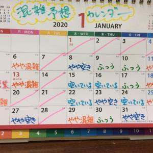 1月の混雑予想カレンダー