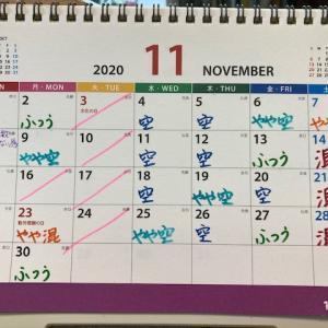 11月の混雑予想カレンダー