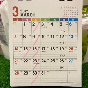 3月のスタッフスケジュール
