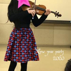 バイオリンの新年会&出校日
