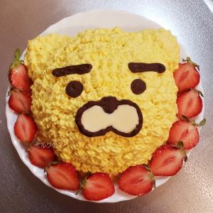 昨日作ったものはライアンのケーキでした!