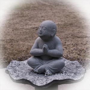 蓮葉二枚目 【 石像彫刻 】