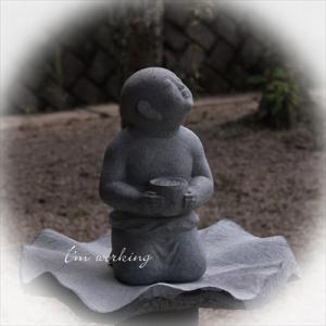 心を加える 【 石像彫刻 】
