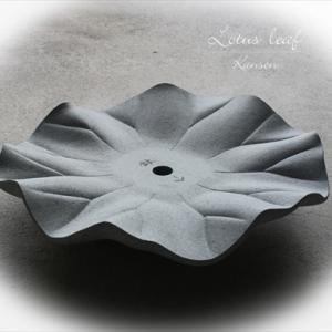 蓮の葉 【 石像彫刻 】