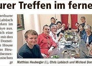 スイスの新聞に掲載されました。