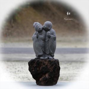 童地蔵と童観音 【 石彫刻 】