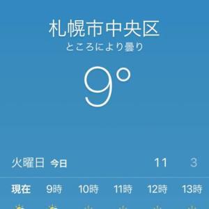 おやじギャグ連発し過ぎて札幌6℃か?更に私のカミングアウト
