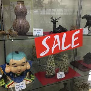 店内展示品 50% OFF セールです!!