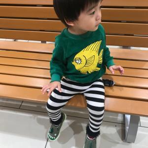 お魚トレーナーと恐竜スリッポン♡